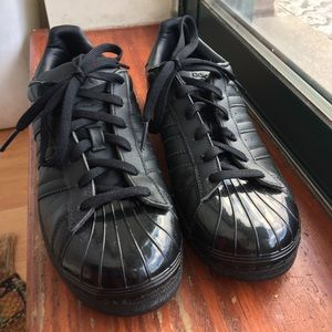 All Black Superstar Adidas Shoes
